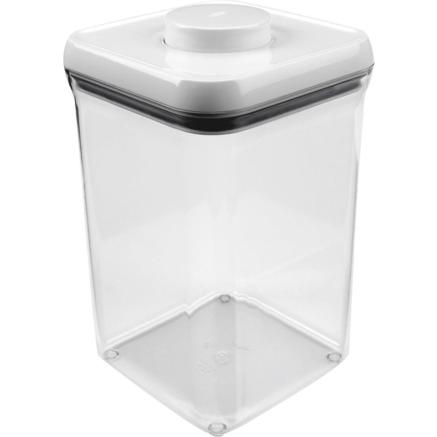 Oxo Good Grips 4 Qt. Clear Square Food Storage Container with Lid Image 1