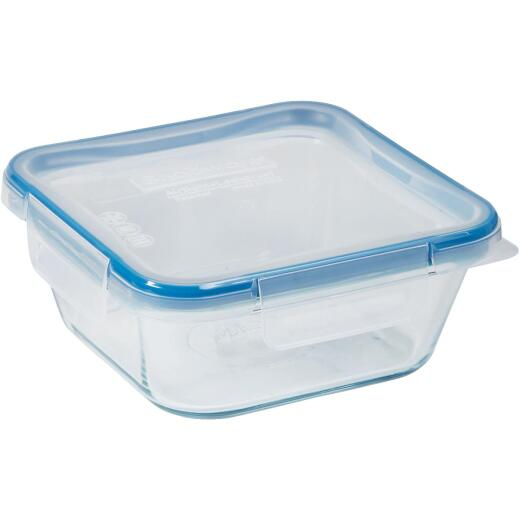 Snapware Total Solution 4-Cup Square Pyrex Glass Storage Container with Lid