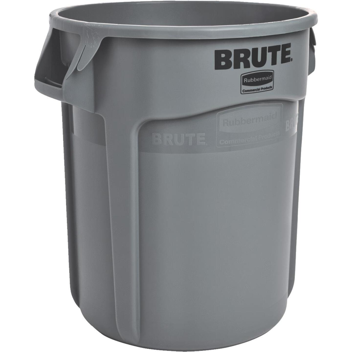 Rubbermaid Commercial Brute 20 Gal. Gray Vented Trash Can Image 1