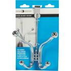 iDesign York Lyra Over-The-Door Chrome Quad Hook Image 2
