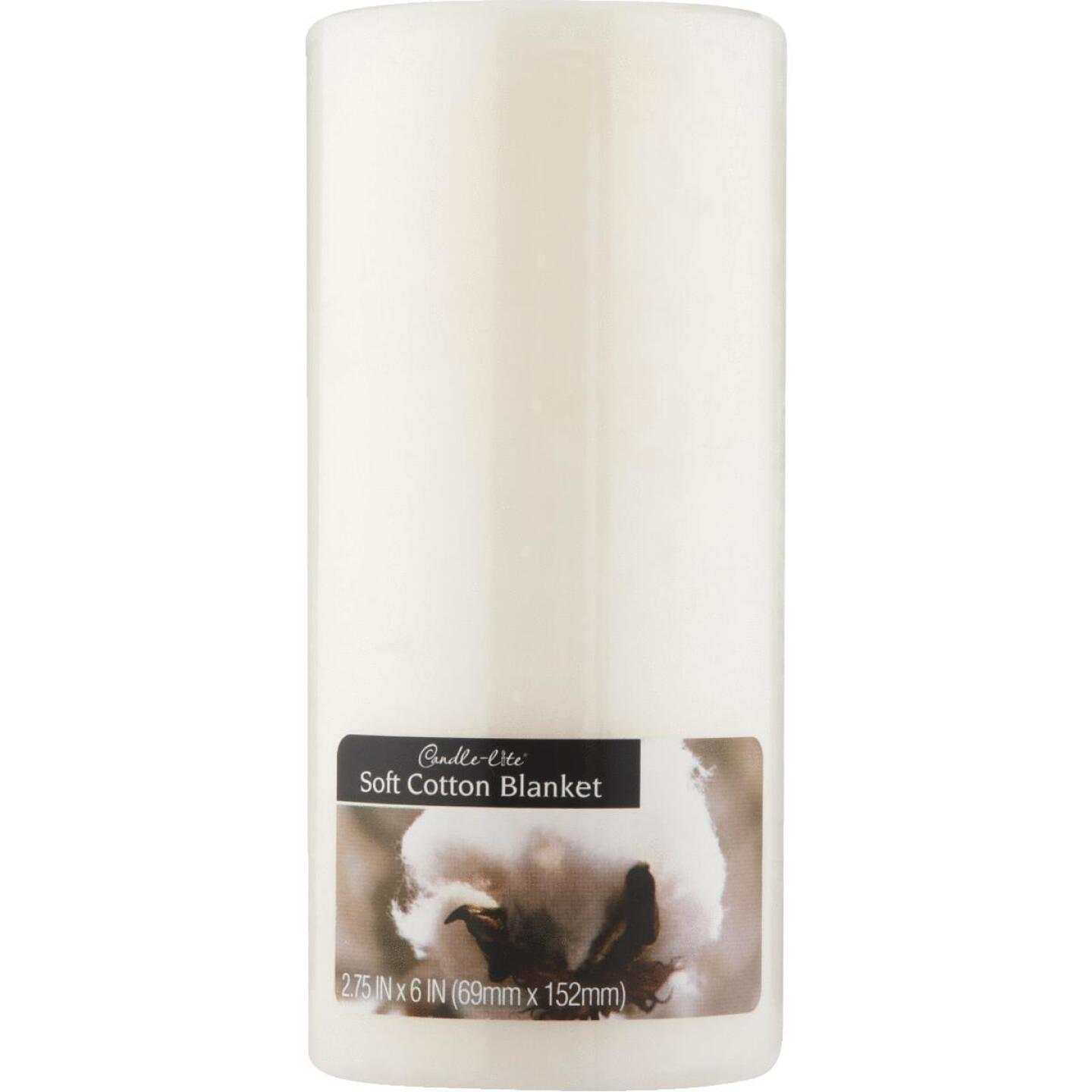 Candle-lite Soft Cotton Pillar Candle Image 1