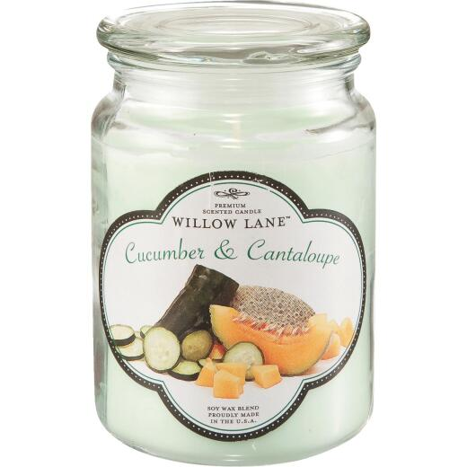 Candle-Lite Willow Lane 19 Oz. Cucumber & Canteloupe Jar Candle