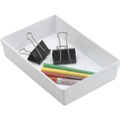 Rubbermaid 6 In. x 9 In. x 2 In. White Drawer Organizer Tray