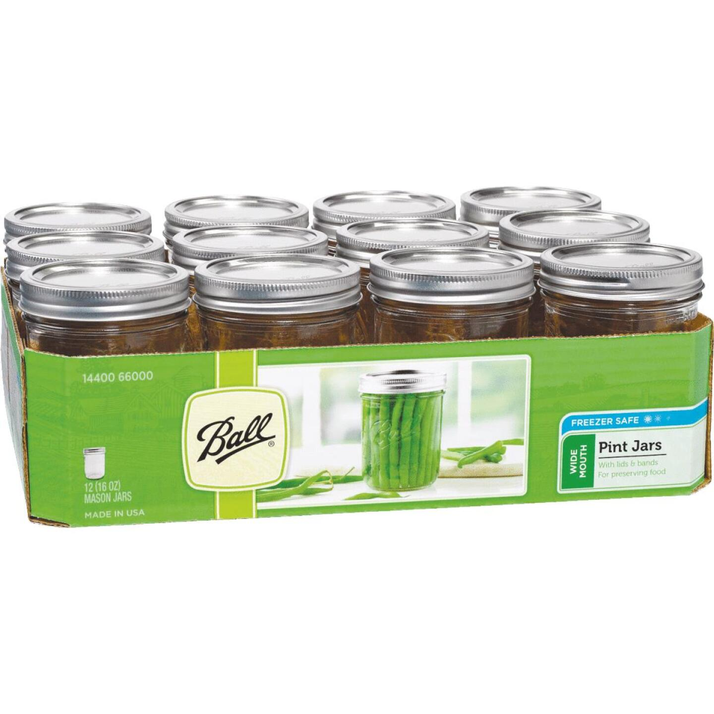 Ball Pint Wide Mouth Can-Or-Freeze Mason Canning Jar (12-Count) Image 1