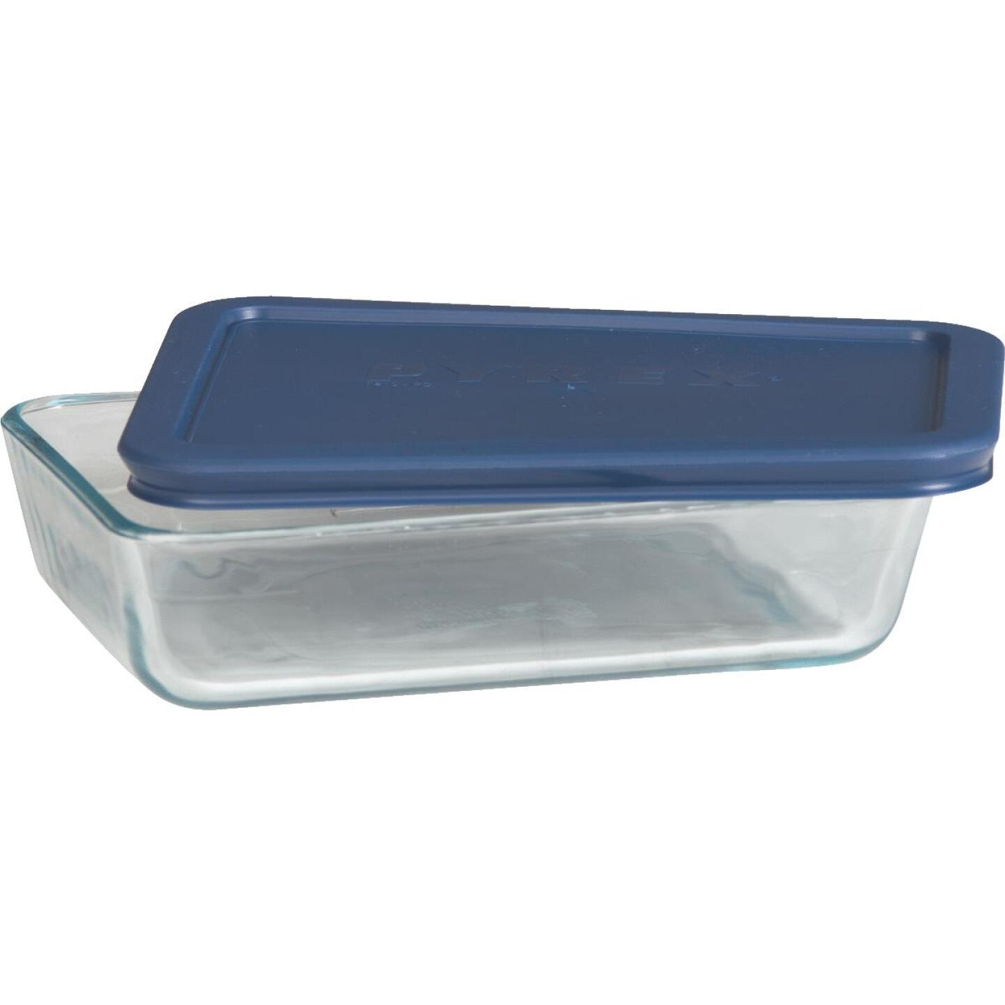 Pyrex Simply Store 3-Cup Rectangle Glass Storage Container with Lid Image 2