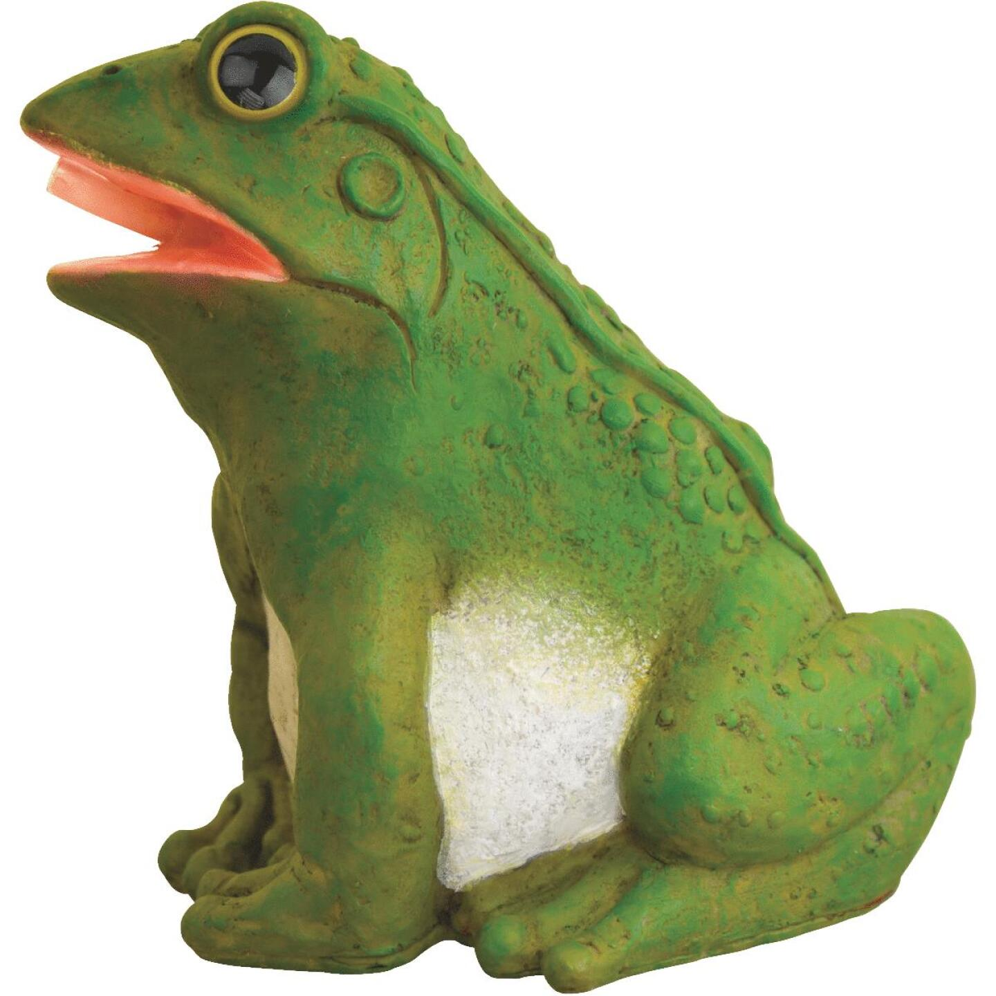 PondMaster 5.1 In. W. x 6.5 In. H. x 8.6 In. L. Resin Fountain Frog Spitter Image 1