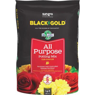 Black Gold 1 Cu. Ft. 27 Lb. All Purpose Potting Soil