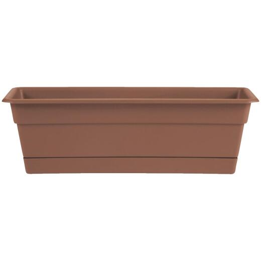 Bloem Dura Cotta 24 In. Plastic Terra Cotta Flower Box