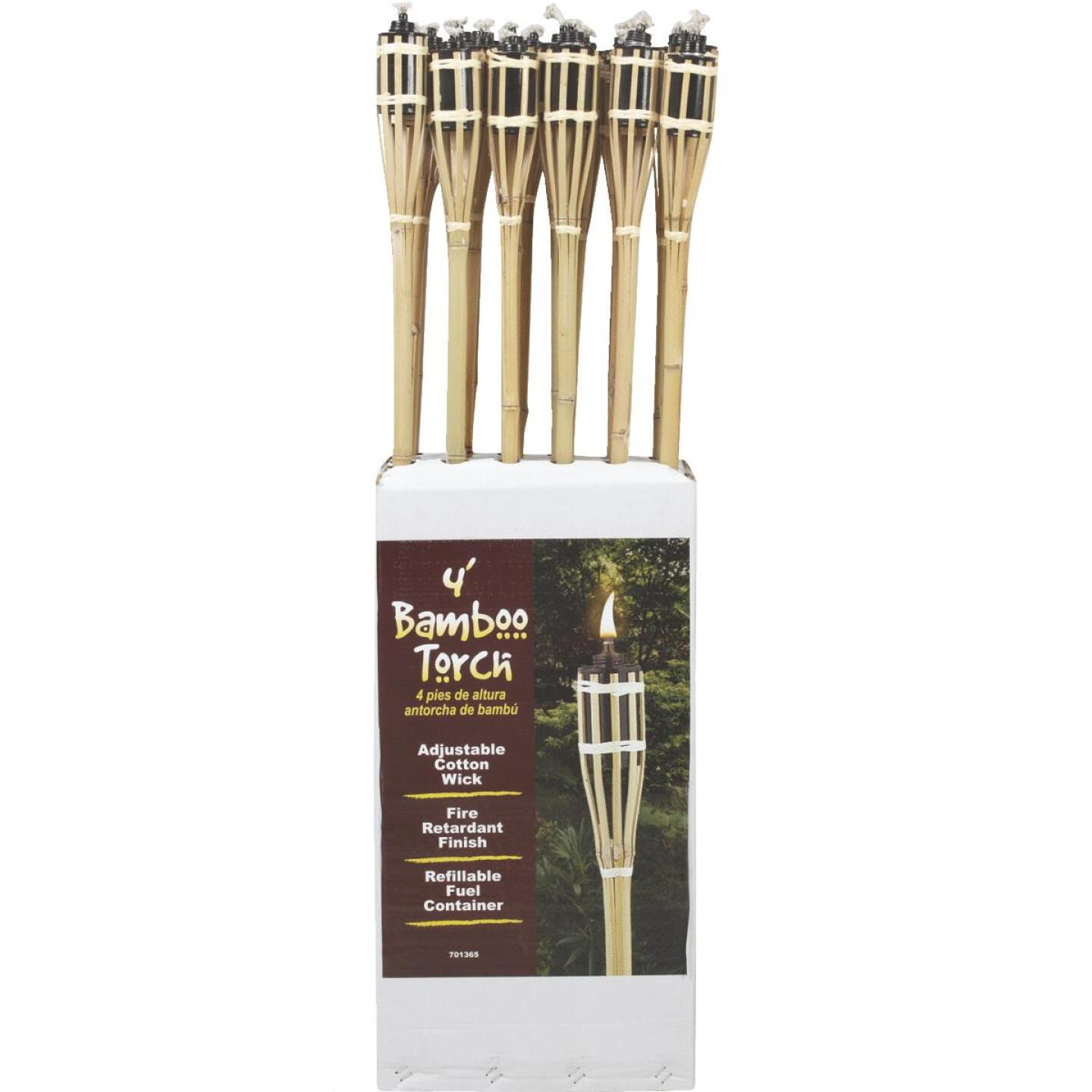 Outdoor Expressions 48 In. Natural Bamboo Patio Torch Image 2