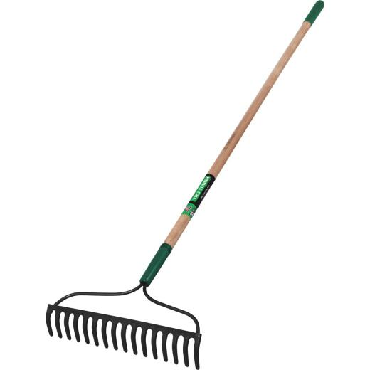 Truper Tru Tough 15.75 In. Steel Bow Wood Handle Garden Rake (16-Tine)