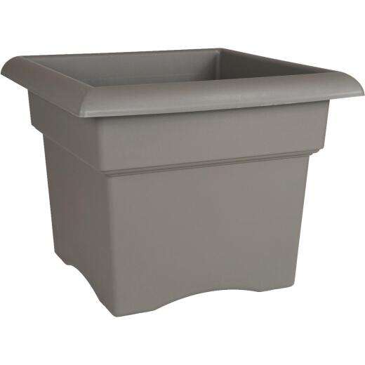 Bloem Veranda 14 In. Resin Charcoal Planter