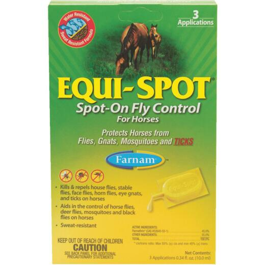Farnam Equi-Spot 10 Ml. Spot-On Fly Repellent For Horses (3-Pack)