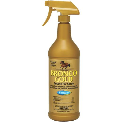 Farnam Bronco Gold 32 Oz. Trigger Spray Equine Fly Spray