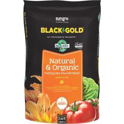 Black Gold 2 Cu. Ft. 47-1/2 Lb. All Purpose Natural & Organic Potting Soil