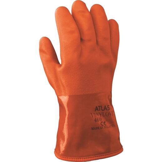 Atlas Men's Large Double-Dipped PVC Winter Work Glove
