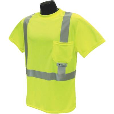 Radians Rad Wear ANSI Class 2 Hi Vis Green Safety T-Shirt 2XL