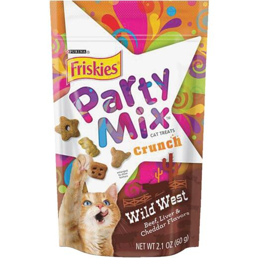 Purina Party Mix Wild West-Beef, Liver, & Cheddar 2.1 Oz. Cat Treat