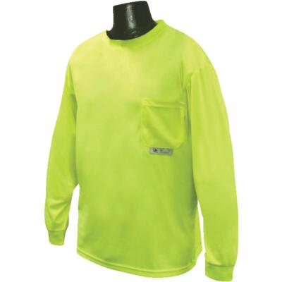 Radians Rad Wear Hi-Vis Green Safety T-Shirt Large