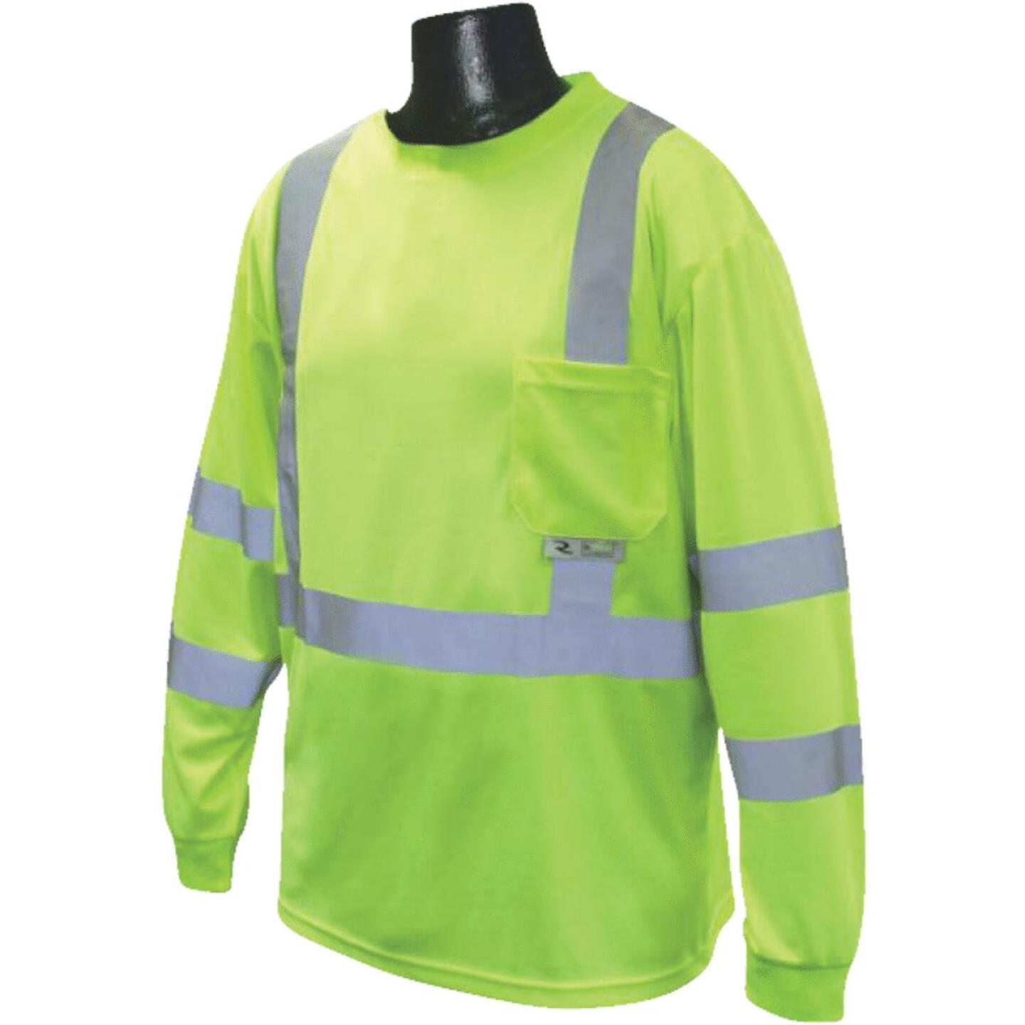 Radians Rad Wear ANSI Class 3 Hi Vis Green Safety T-Shirt XL Image 1