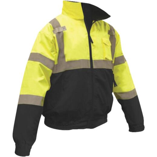 Radians Rad Wear ANSI Class 3 Hi Vis Green Safety Jacket XL