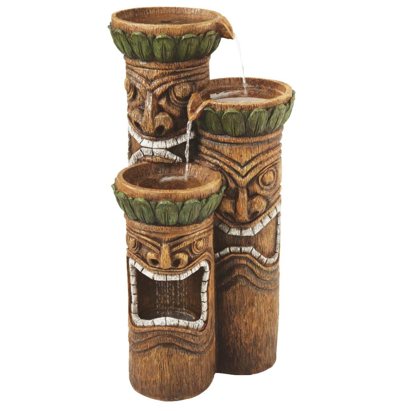 Best Garden 16 In. W. x 32 In. H. x 16 In. L. Resin Tiki Head Fountain Image 1