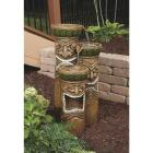 Best Garden 16 In. W. x 32 In. H. x 16 In. L. Resin Tiki Head Fountain Image 2