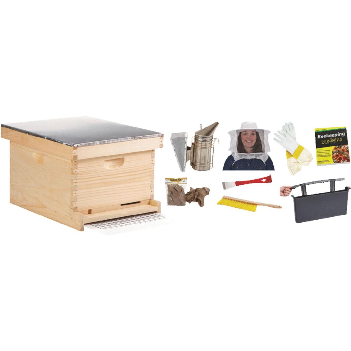 Little Giant 9.125 In. L. x 9.5 In. D. Assembled Medium Beehive, 10 Frames Image 1