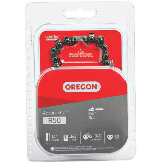 Oregon AdvanceCut LubriTec R50 14 In. 3/8 In. Low Profile 50 Link Chainsaw Chain