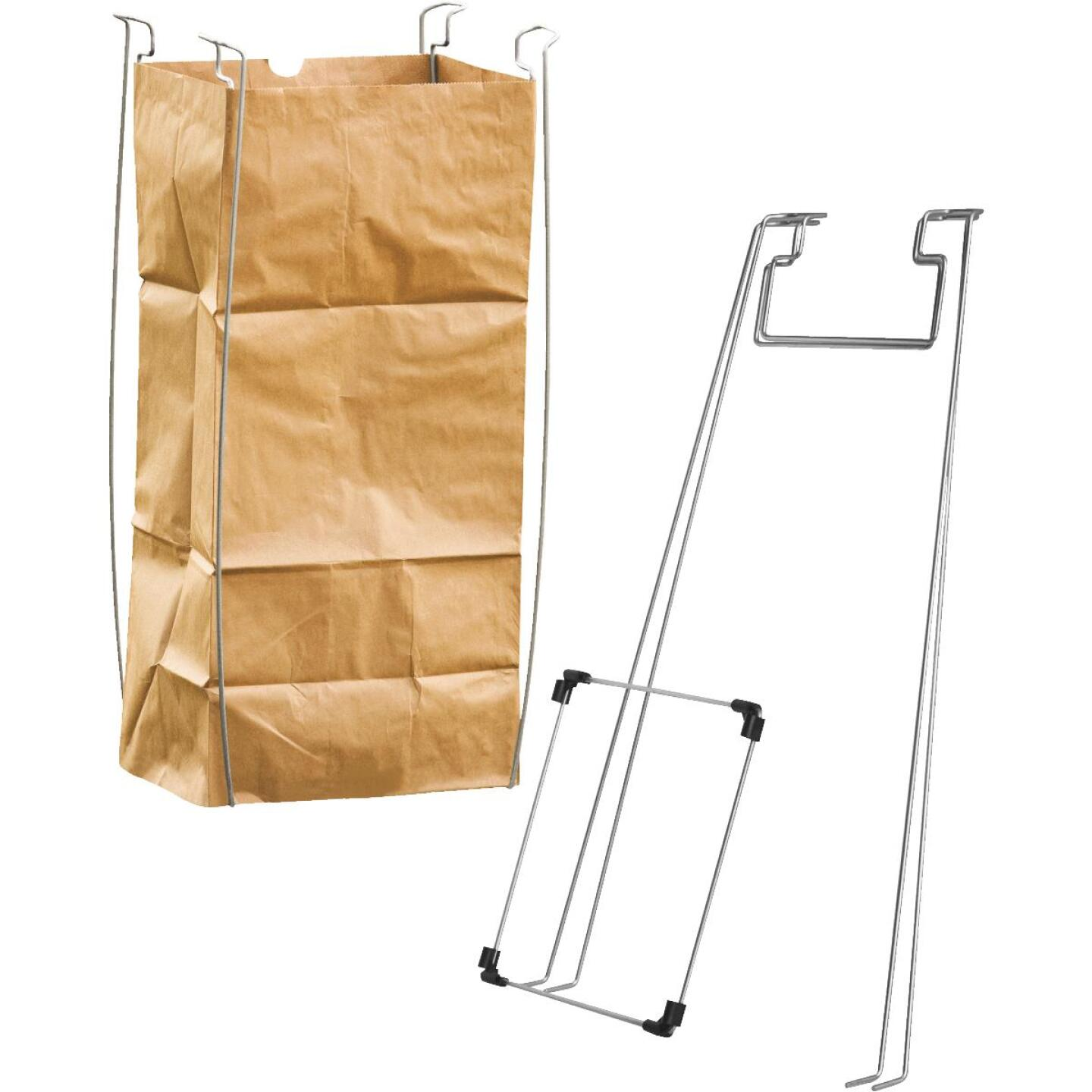 Bag Buddy 55 Gal. Plastic Bag/48 Gal. Paper Bag Capacity Wire Frame Lawn & Yard Bag Holder Image 1