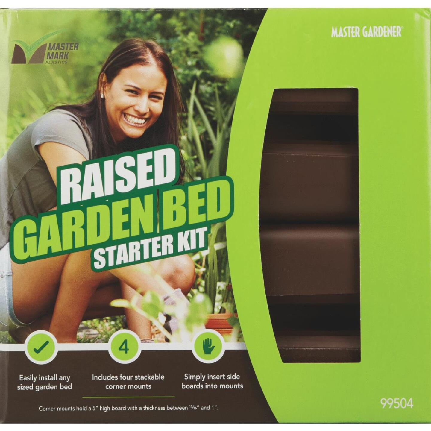 Master Mark 5-1/2 In. Brown Plastic Raised Garden Bed Starter Kit Image 2