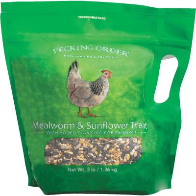Pecking Order 3 Lb. Mealworm & Sunflower Chicken Treat