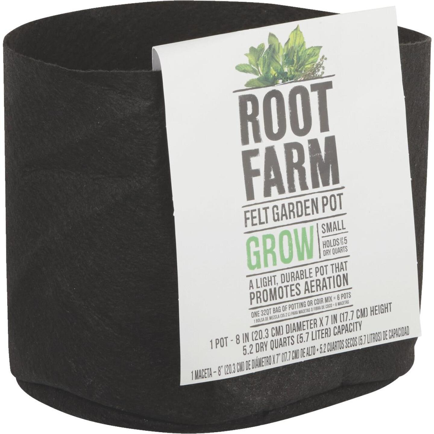 Root Farm Felt Small Garden Pot Image 1