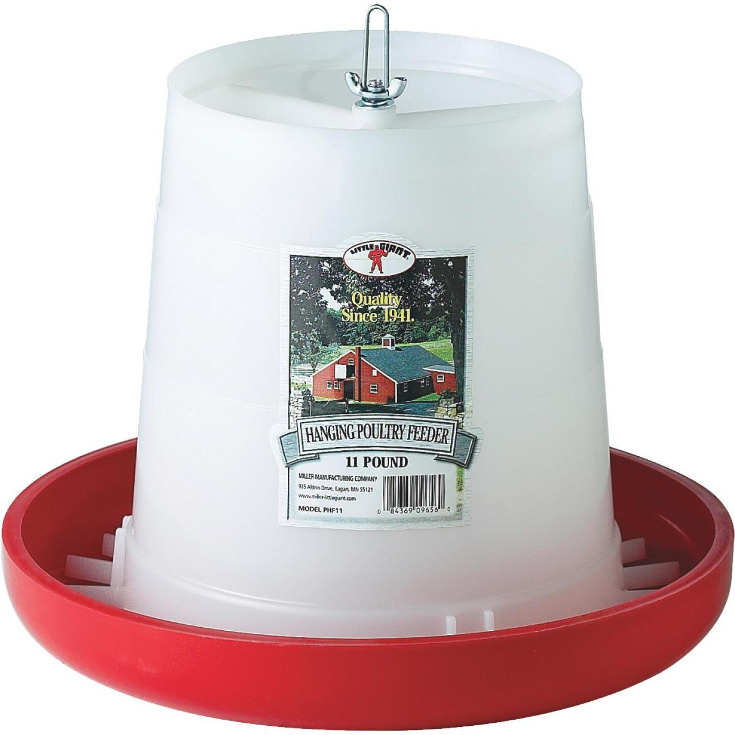 Little Giant 11 Lb. Capacity Hanging Plastic Poultry Feeder Image 1