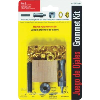 Lord & Hodge 1/4 In. Brass Grommet Kit