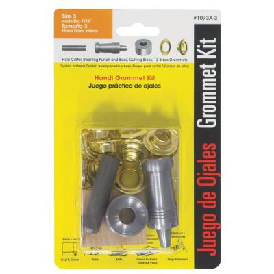 Lord & Hodge 7/16 In. Brass Grommet Kit