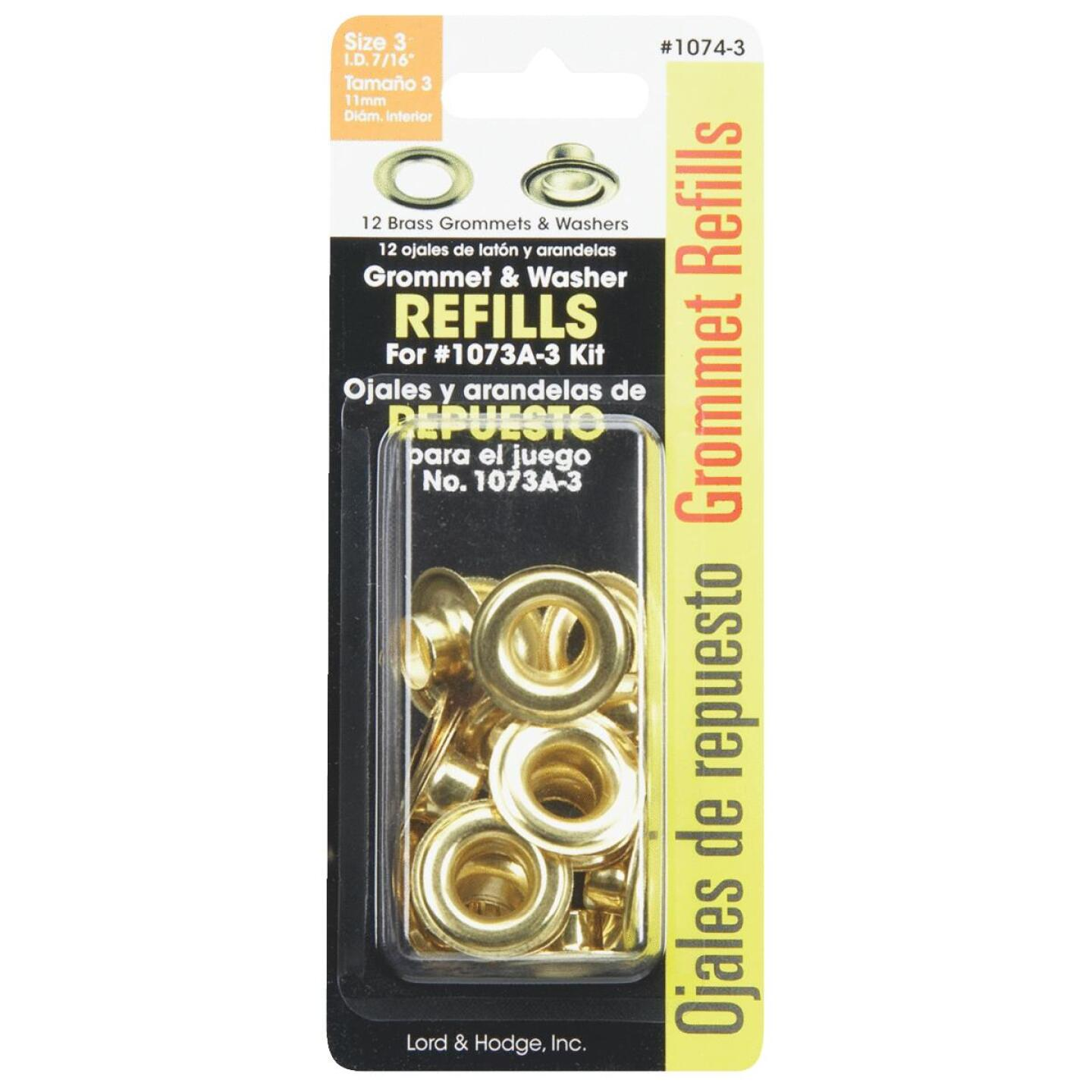 Lord & Hodge 7/16 In. Brass Grommet Refills (12 Ct.) Image 2