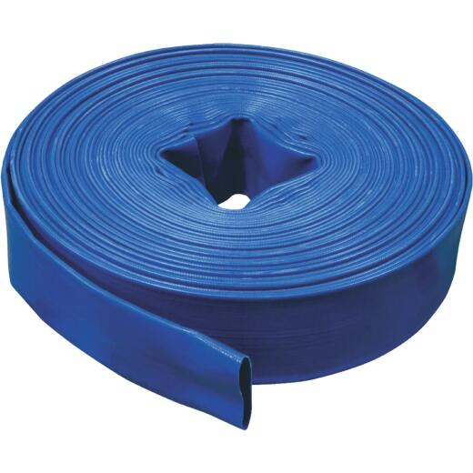 Apache 1-1/2 In. x 100 Ft. Reinforced PVC Blue Discharge Hose