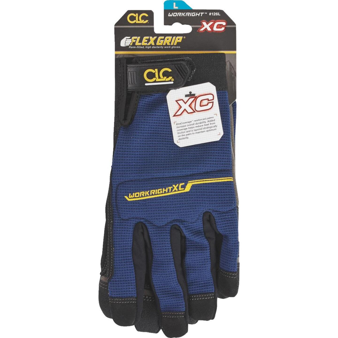 CLC Workright XC Men's Large Synthetic Leather Flex Grip High Performance Glove Image 2