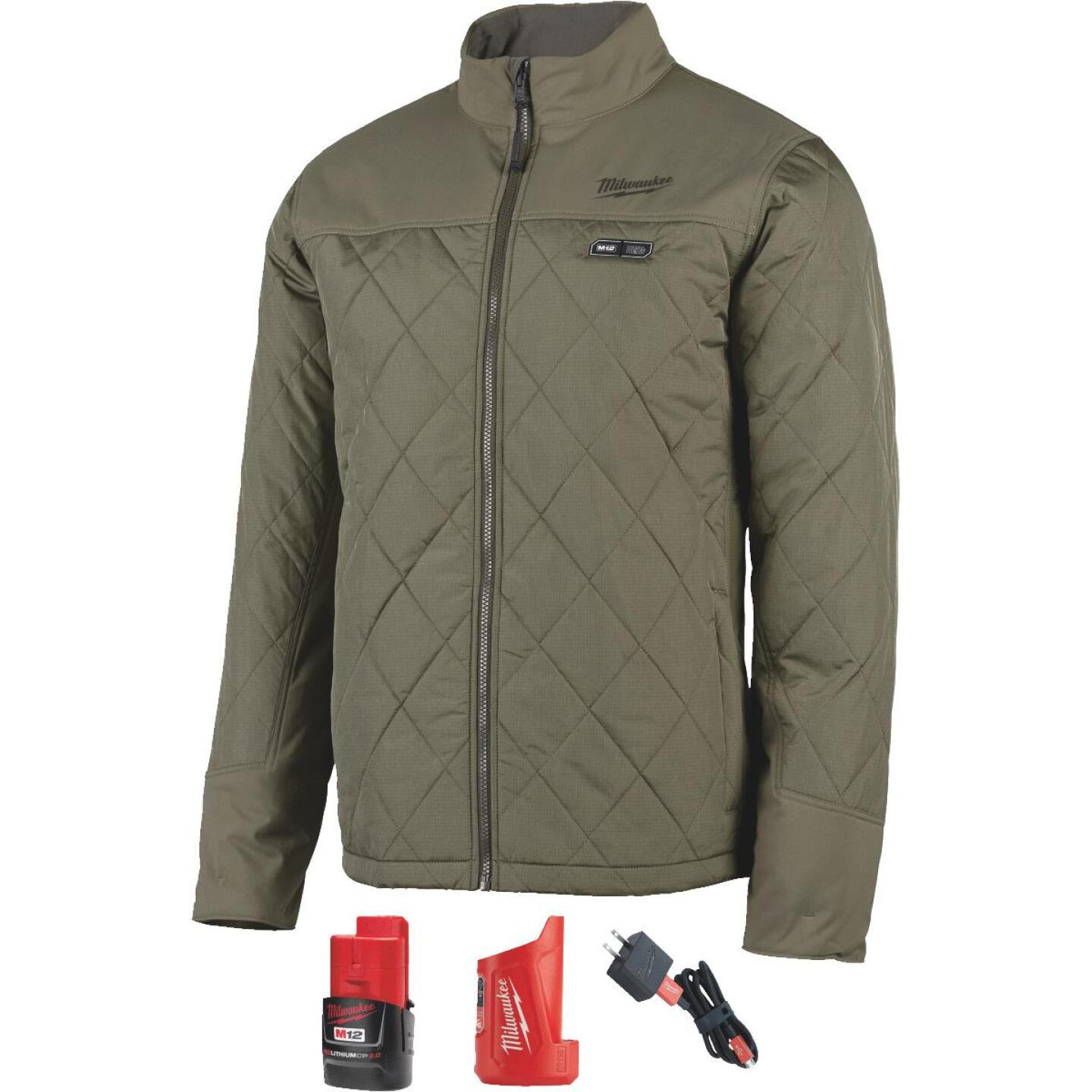 Milwaukee M12 2XL Olive Green Cordless Heated Axis Jacket Image 5
