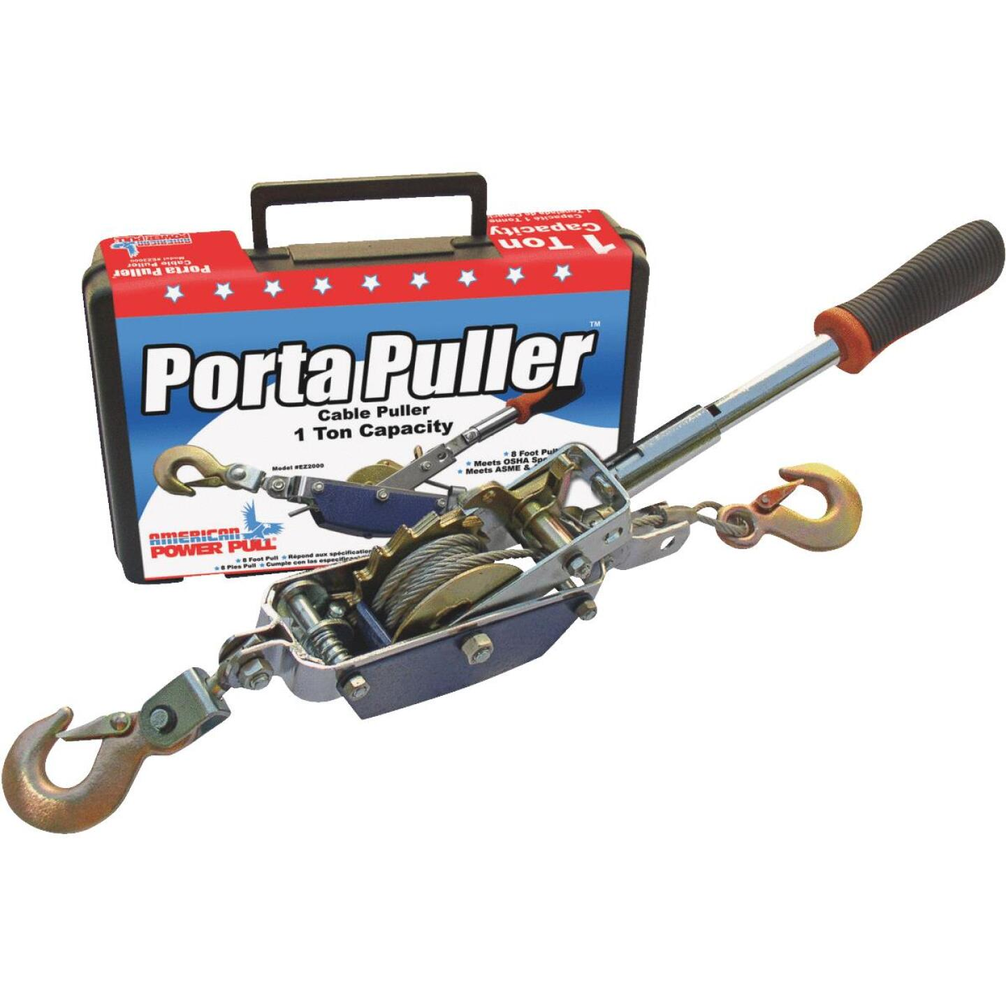 American Power Pull 1/2-Ton to 1-Ton 10 Ft. Cable Puller With Case Image 1