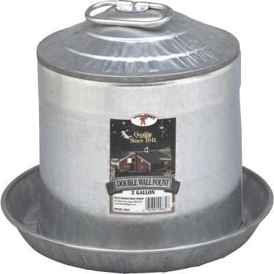 Little Giant 2 Gal. Galvanized Steel Poultry Fountain