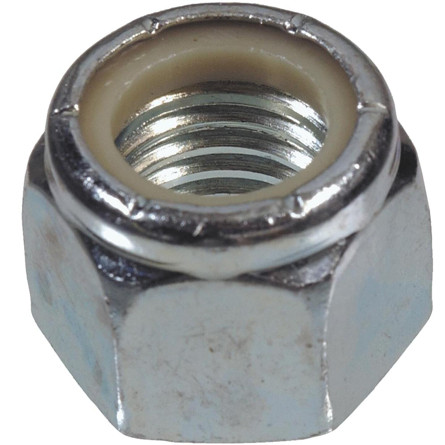 Hillman 3/8 In. 16 tpi Steel Course Thread Nylon Insert Lock Nut (100 Ct.) Image 1