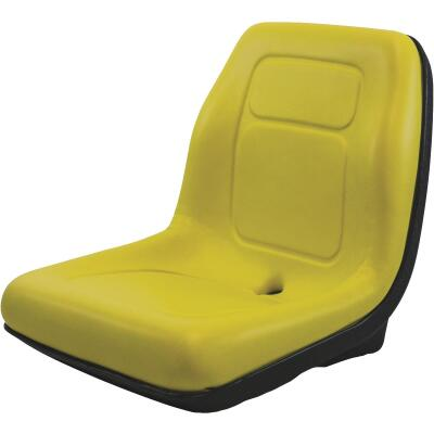 Concentric Black Talon Ultra-High Back Gator Style Yellow Mower Seat