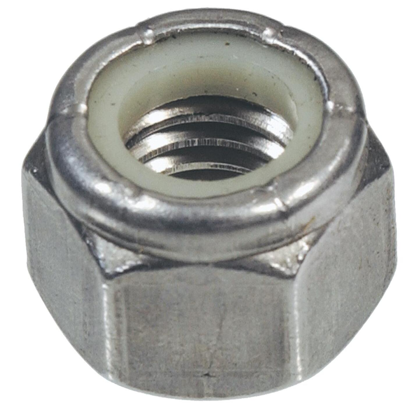 Hillman 5/16 In. 18 tpi Stainless Steel Course Thread Nylon Insert Lock Nut (50 Ct.) Image 1