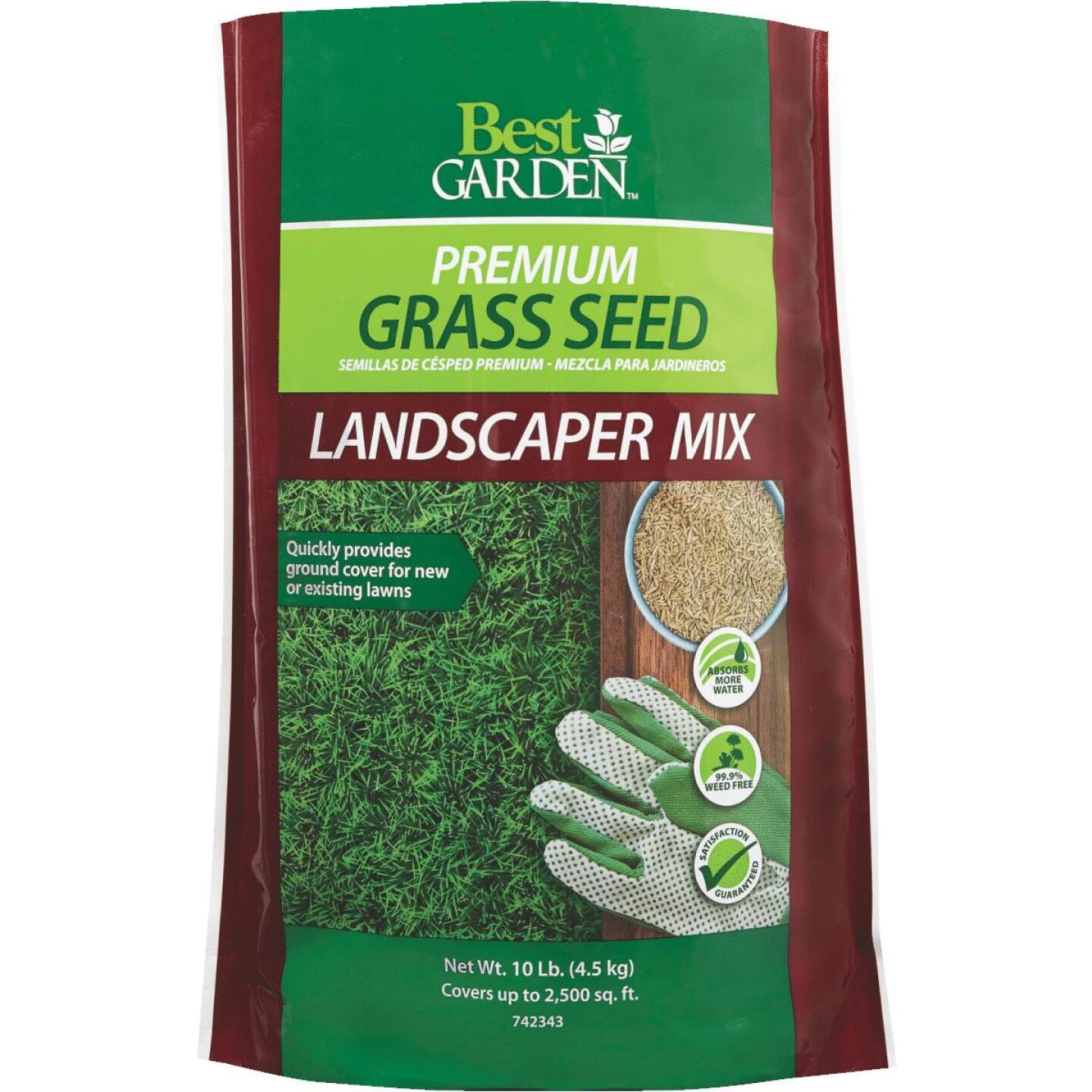 Best Garden 10 Lb. 1500 Sq. Ft. Coverage Sun to Partial Shade Grass Seed Image 1