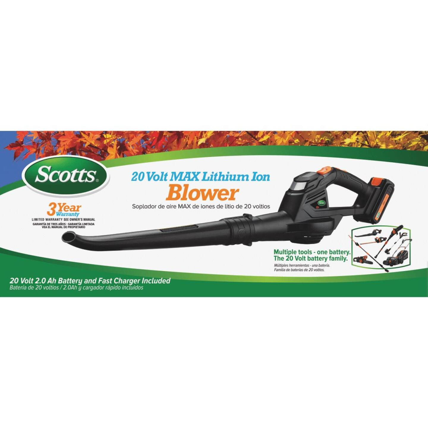 Scotts 130 MPH 20V Lithium-Ion Cordless Blower Image 2