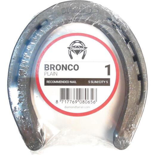 Diamond Plain Bronco Front & Hind 5-2/5 In. Horseshoe (1-Pair)