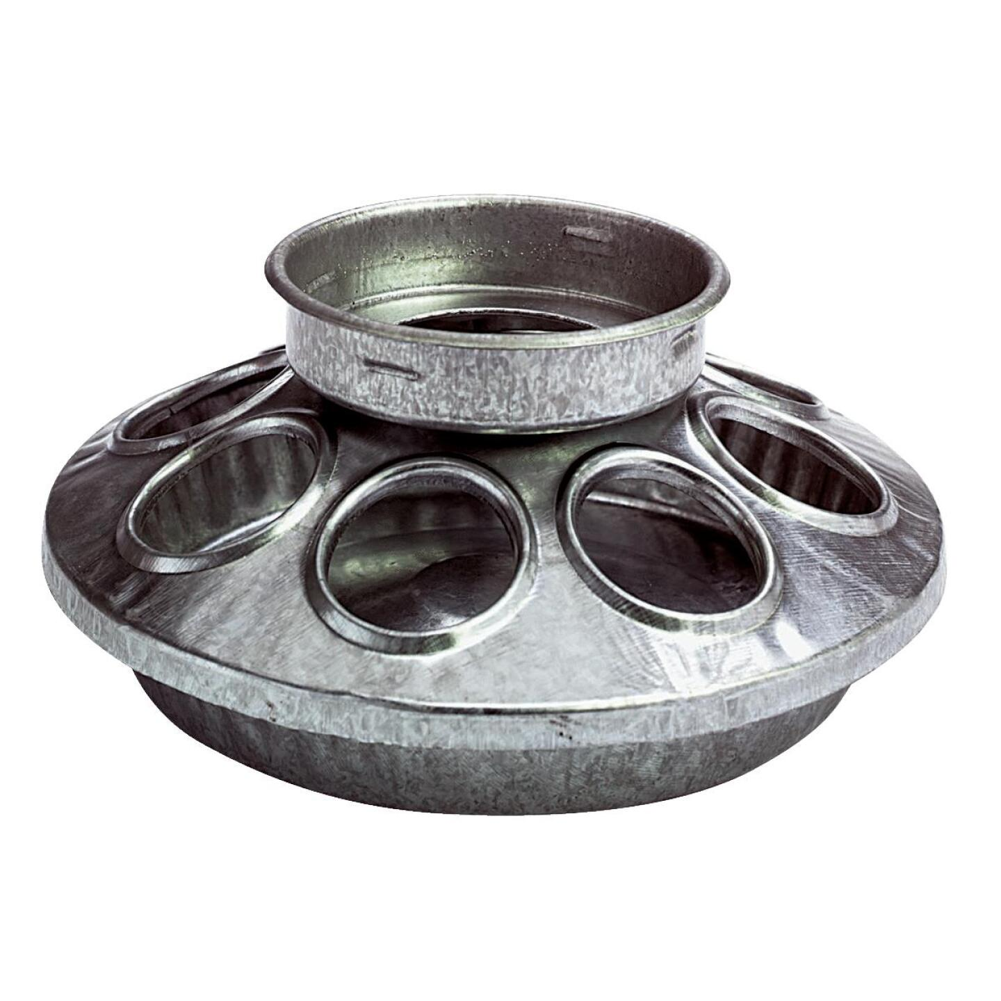 Little Giant 6 In. Galvanized Steel Poultry Feeder Base Image 1