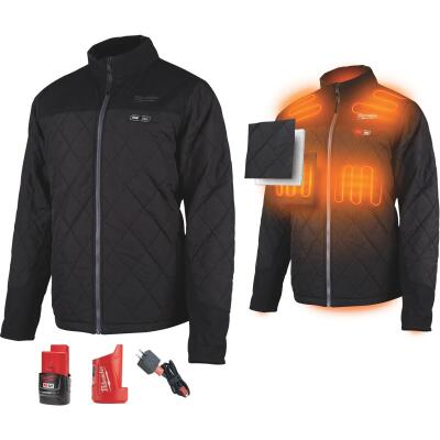 Milwaukee M12 XL Black Cordless Heated Axis Jacket