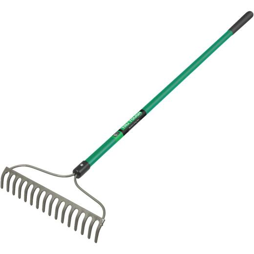 Tru Tough 15.5 In. Steel Bow Garden Rake (16-Tine)